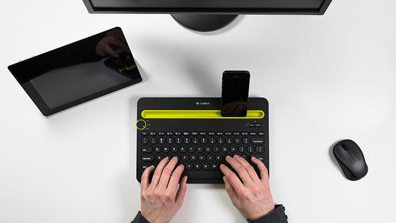 آنباکسینگ کیبورد لاجیتک K480 Keyboard