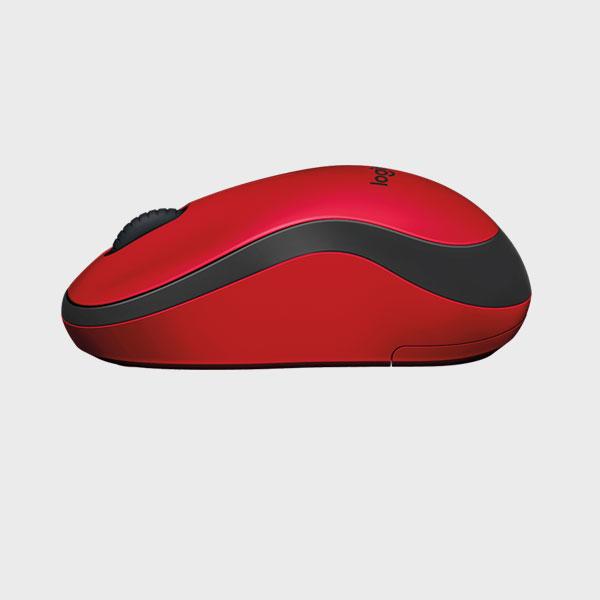 ماوس لاجیتک قرمز MOUSE SILENT M220 RF RED