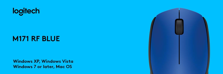 ماوس لاجیتک آبی M171 RF BLUE