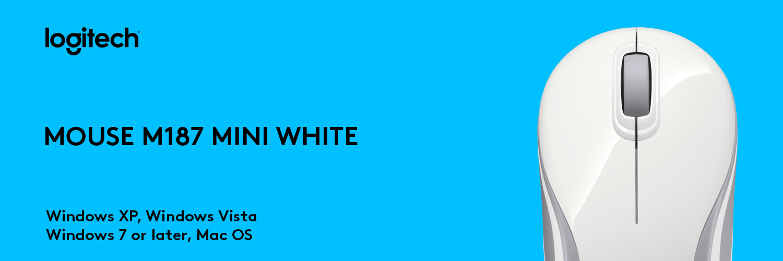 ماوس لاجیتک سفید MOUSE M187 MINI