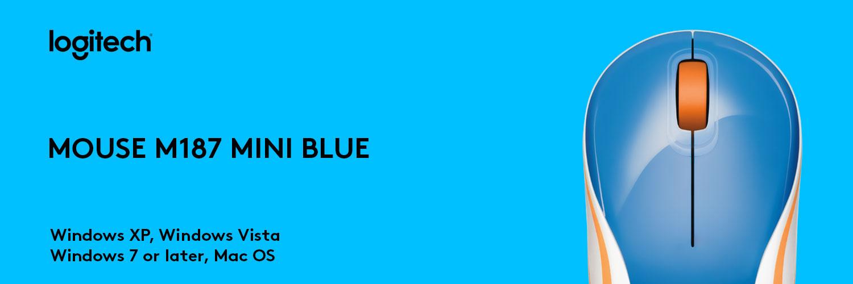 ماوس لاجیتک آبی MOUSE M187 MINI