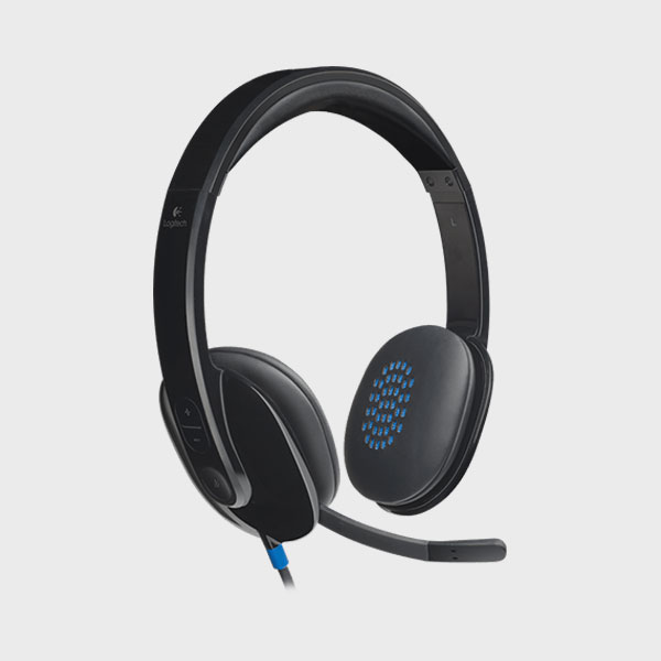 هدست لاجیتک HEADSET H540 USB BLACK
