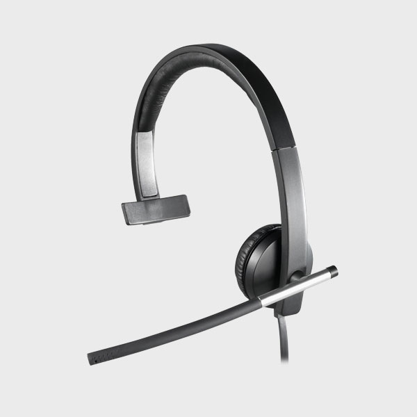 هدست لاجیتک HEADSET H650e USB MONO BLACK