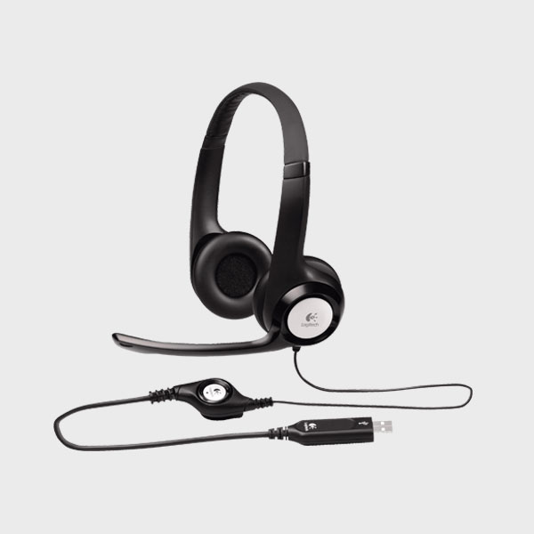 هدست لاجیتک HEADSET H390 USB BLACK