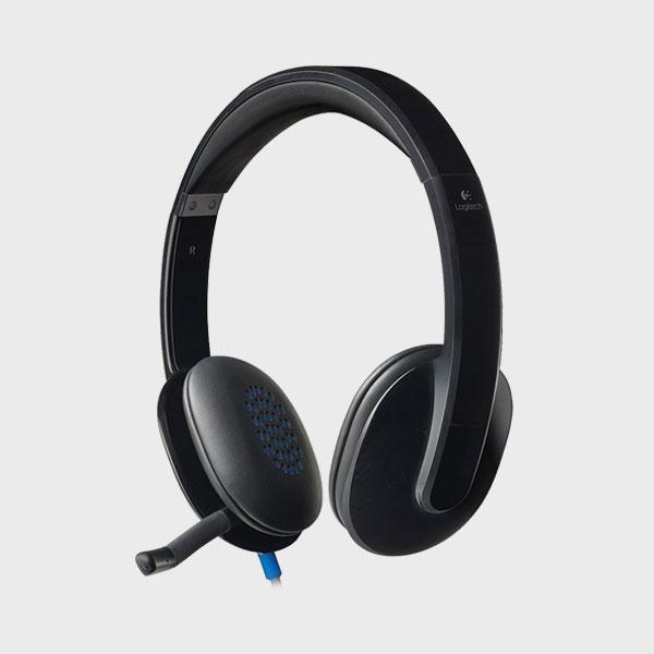 هدست لاجیتک HEADSET H540 USB BLACK