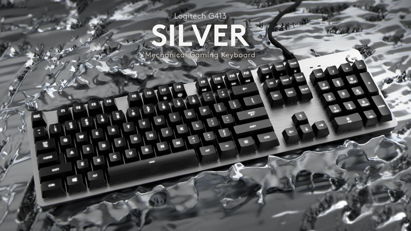 کیبورد لاجیتک جی GAMING KEYBOARD G413 SILVER