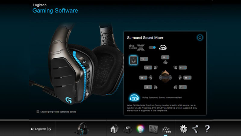 هدست گیمینگ لاجیتک جی HEADSET G633 ARTEMIS SPECTRUM