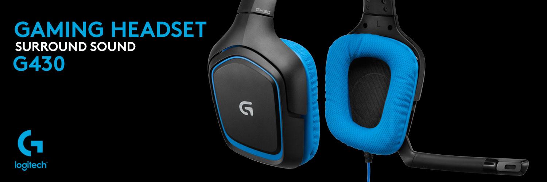 هدست گیمینگ لاجیتک جی Gaming Headset G430