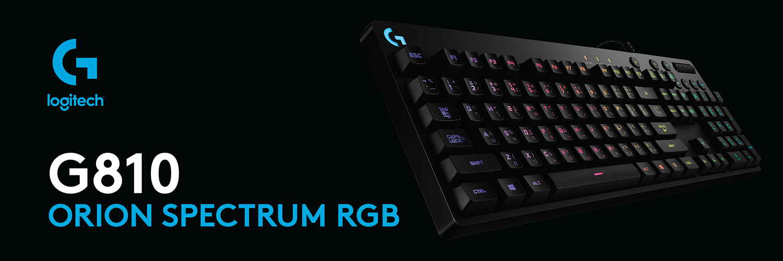 G810 Orion Spectrum RGB کیبورد مکانیکی مخصوص بازی